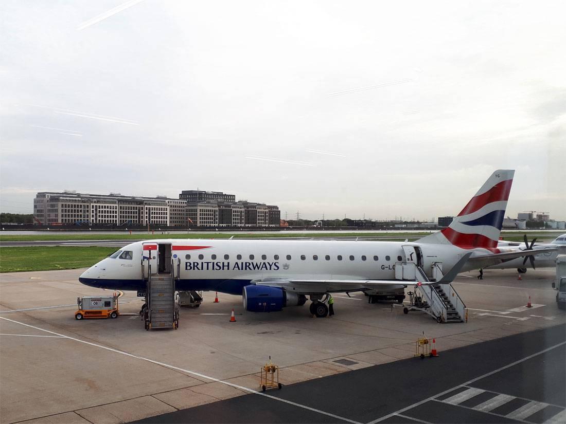 Unsere Maschine von British Airways