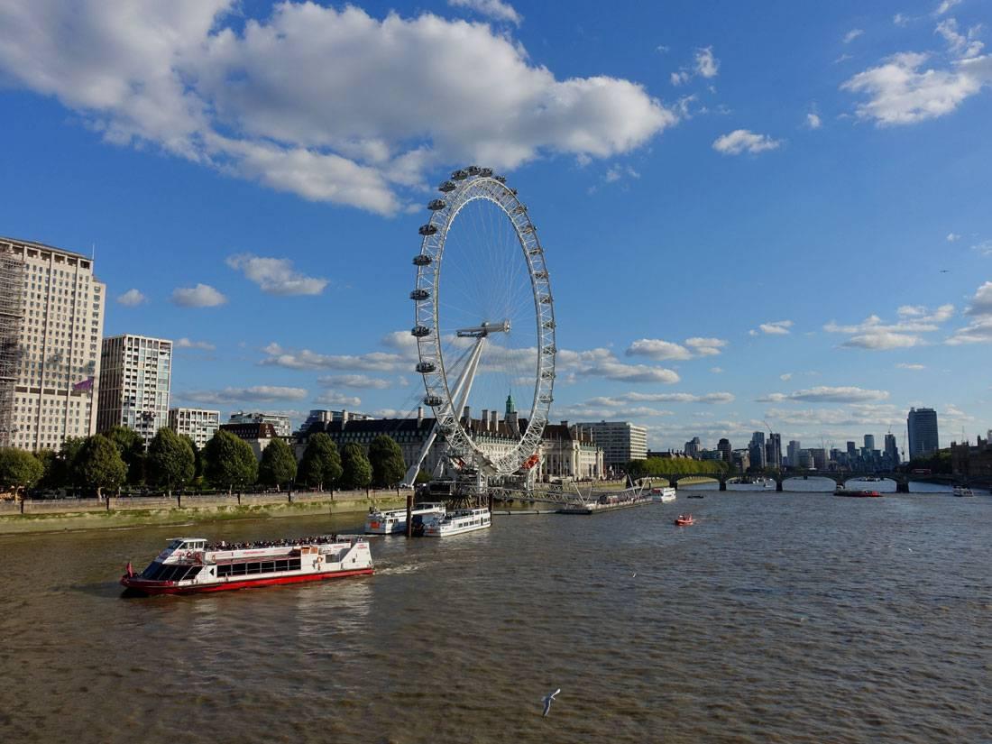 Blick auf das London Eye